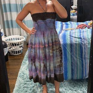 Multi-colored Tie Dye Dress